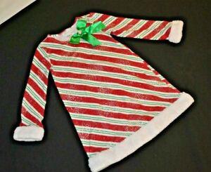 Bonnie Jean Girls Red/Green/White Christmas Dress Size 5