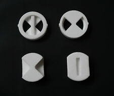 "Replacement ceramic disc inserts for 3/4"" BATH quarter turn tap valve cartridges"