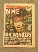 NME Magazine 25 June 1984 - Glastonbury Festival Guide - Blur Orbital Nick Cave
