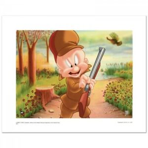 Looney Tunes Elmer Hunting LE giclée on paper from WB 80/500 Toon Art Lithograph