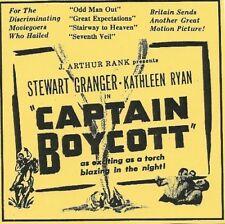 CAPTAIN BOYCOTT (Stewart Granger) - DVD - Region Free - Sealed