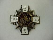 Latvian Badge Pre-Ww2 Latvia 5th Cesis Infantry Regiment Military Latvija Medal