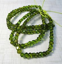 Natural Green Amber Nugget Bead Square Cube 5mm 6mm, Green Gemstone Russia