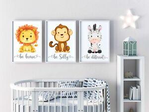Safari Animal Nursery Prints, Baby   Kids Room   Pictures Wall Art Decor