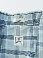 Men's Peter Millar  Plaid Button Front LONG SLEEVE Shirt Size LARGE