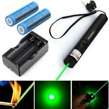 900Miles Green Laser Pointer Pen 532nm Visible Beam Lazer Pet Toy Charger+18650