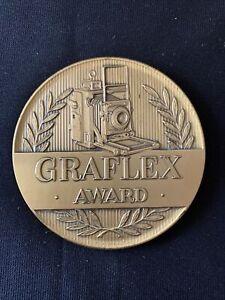 Vintage Brass Graflex Award Medallion