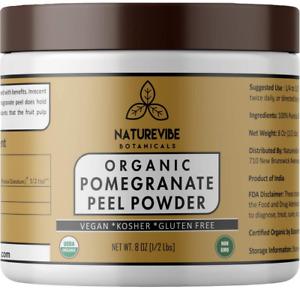 Pomegranate Peel Powder Organic Punica Granatum Half Pound NEW
