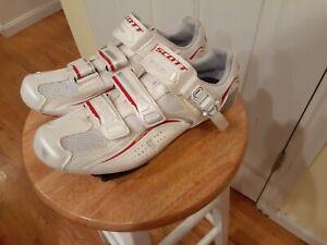 Scott Road Shoes Pro Lady Anatomic White w/Cleats  Size 40,  ERGO Logic