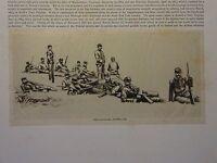 """Great B/W Print- """"SCHOOL OF CAVALRY .. 1889"""" by William Walton, 1890 by G.B."""