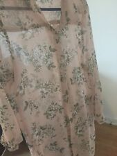 Pink floral print clothing dress size 10,  long sleeve pink colour