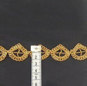 Beautiful Lace Gold  trim curtains throws valances Craft Upholstery 1 Yard DIY