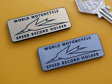 TRIUMPH World Motorcycle Speed Record Holder Adhesive Bike BADGE 50mm Bonneville