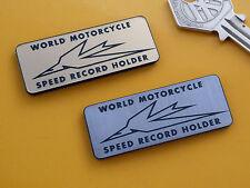 TRIUMPH World Moto velocità Registrazione Supporto Adesivo stemma moto 50mm