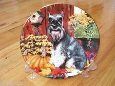 Danbury Mint Miniature Schnauzer Autumn Delight Plate