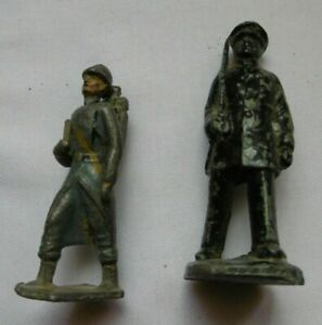 Lot of 2 Vintage Metal French Historical Figurine Soldier Soldat