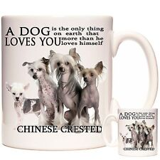 Chinese Crested mug. Can Be Personalised. Matching Coaster Available