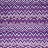 Tissu A Mètre Coupe Coton Fantaisie Zig Zag Violet Tentes Oreillers Table Sarani