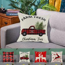 4X Christmas Cushion Cover Pillow Case Sofa Throw Home Gift Decor Cute Cartoon