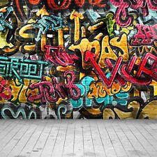 Graffiti Wall 10'x10' CP Backdrop Computer printed Scenic Background XLX-304