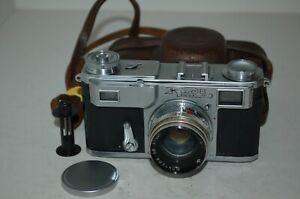 Kiev-II (2) Vintage 1955 Soviet Rangefinder Camera & Case. No.5517275. UK Sale.