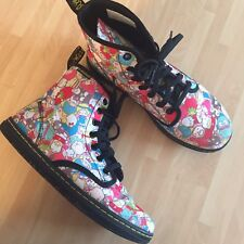 New Limited Edition Sanrio Hello Kitty Dr Martens Shoreditch Rare Boots Size 6