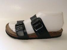5397a38dcf8 Madden Girl Black Slides Sandal Brando Wmns 6 M Faux Leather Wedge Open Toe  Shoe