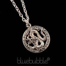 FUNKY CHINESE DRAGON NECKLACE GOOD LUCK COOL EMO BIKER GOTH ROCK FANTASY COSPLAY