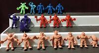 Vintage Lot/18 Mattel 1980s M.U.S.C.L.E Muscle Men Collectible Figures Y/S N.T