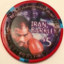 $5 Palace Station Casino Chip - Iran Barkley - Limited Edition - Boxing - RARE