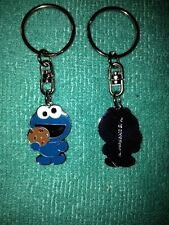 1 retro sesame street cookie monster keyring