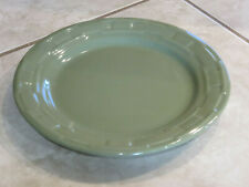 "New ListingLongaberger Woven Traditions Pottery 10.5"" Round Dinner Plate Sage Green Nice +"