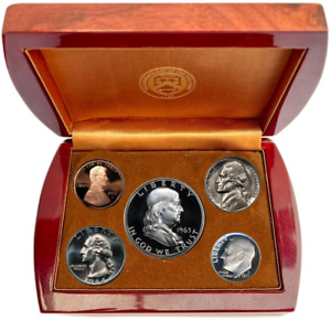 1955 PROOF SET IN OFFICIAL U.S. MINT DISPLAY SILVER UNCIRCULATED BIRTHYEAR COINS