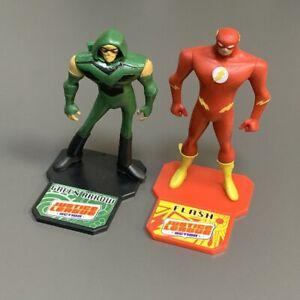 2x DC Comics Justice League Superheroes Green Arrow & Flash 3'' Figures Kid Toy