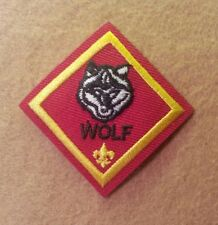 CUB SCOUT WOLF RANK PATCH  - WIDE BORDER -   A00790