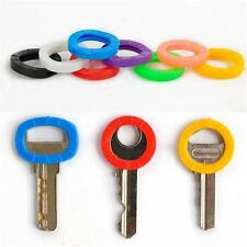 8PCS Colorful Hollow Silicone Key Cap Covers Topper Keyring With Bly Braille