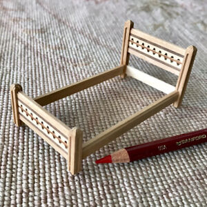 """Unfinished Bed Frame HALF INCH 1:24  1/2"""" Scale 1277"""