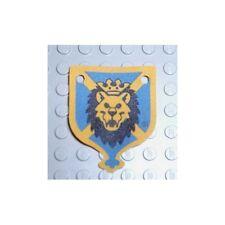 LEGO - Cloth Flag Hanging 4 x 5 with Knights Kingdom Lion Head Pattern - Blue