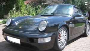 Porsche 911 964 Blinker SET weiß vorne NEU mit Orange Birnchen Leuchtmittel Top