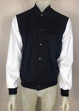 NWT Adidas Retro Letterman Varsity Sport Jacket Men's Size Small Black And White
