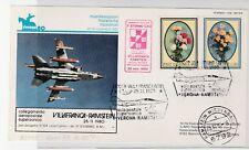 1980 ITALY REPUBBLICA POSTA AEREA VOLO SPECIALE VILLAFRANCA-RAMSTEIN B/6824