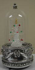International Silver Company Sliverplated & Glass Music Lighted Tree  #P