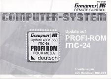 Graupner Handbuch Update auf PROFI-ROM mc-24, Nr. 8000 MC-24/E1