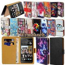 Flip Leather Wallet Card Stand Cover Case For Various HTC SmartPhones