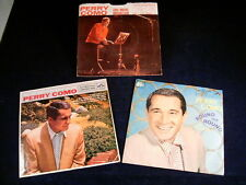 (3) PERRY COMO 45 rpm RECORDS.