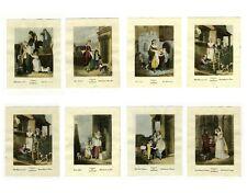 "Vintage English Prints, ""Cries of London"", Street Vendors, 8 pcs"