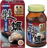 ORIHIRO Oyster extract Supplement 120 tablets 30 days with zinc JAPAN F/S