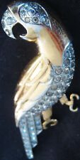 VINTAGE MARCEL BOUCHER PARROT SIGNED FIGUAL FUR CLIP PIN SCREECHING BIRD, CLAWS