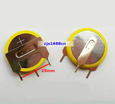 2 pcs X new 3V Tabbed CR2032 Button Cell coin Battery With 3 Solder Tabs Pins