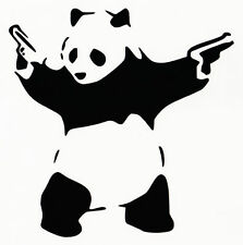PANDA WITH GUNS VINYL DECAL CAR WINDOW BUMPER STICKER BANKSY ART iPad Macbook